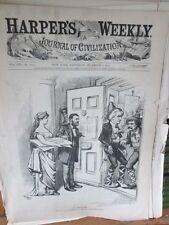 Vintage Print,NO SURRENDER,#2,Harpers,Nast,1872