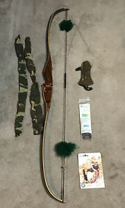 """NICE BROWNING """"WASP"""" RECURVE BOW RH 478721 45X# 36"""" AMO GOOD STRING And Extras"""