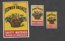 Ancienne   étiquette  allumette  Suède  BB99  Bouquet de Fleurs 3