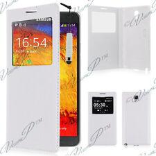 Housse etui coque S View Case Samsung Galaxy Note 3 N7505 N7502 Blanc + Stylet