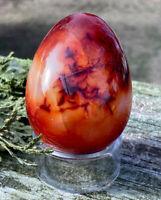 195g MADAGASCAR's BEAUTY! Red Carnelian Crystal Polished Healing Egg  REIKI