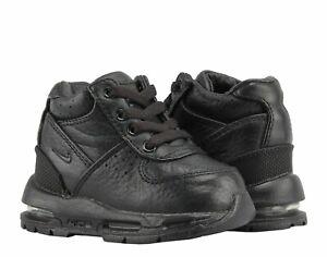 NEW NIKE AIR MAX GOADOME (TD) BOOTS BLACK/BLACK TODDLER SIZE 3C (311569 001)
