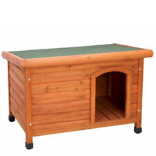 Premium Plus Dog House Flat Roof- Large,Indoor Outdoor Wood Shelter Puppy Canine