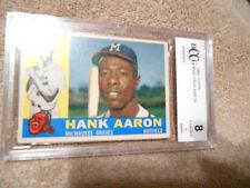 Hank Aaron GRADED CARD!!! Beckett BCCG 8!! 1960 Topps #300 Braves HOFer 8-1!!