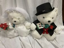 2000 Dayton Hudson Mr And Miss Santa Bears With Tags