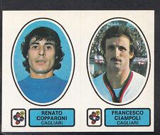 PANINI CALCIATORI FOOTBALL Adesivo 1977-78, N. 390, CAGLIARI, RENATO COPPARONI