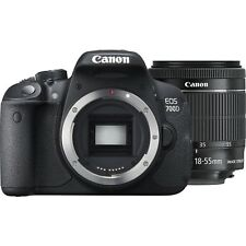 NUOVO Canon EOS 700D 18MP fotocamera reflex digitale con-S 18-55 mm EF STM Lente Kit Nero