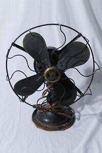 """Vintage Antique Westinghouse 4 Blade Electric Table Desk Fan 12"""""""