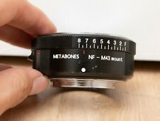 Metabones NF to M43 mount Micro Four thirds adapter