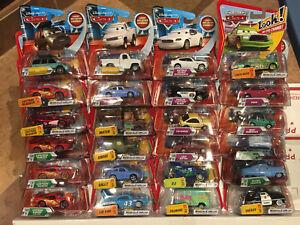 Disney Pixar Cars Mattel Diecast 1:55 Lot of 24 New Lenticular Eyes Change