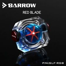 Barrow Square RGB Flow Meter - Red Impeller