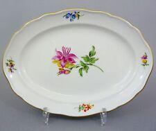 (MT410) Ovale Meissen Platte Blumendekor, 26 cm x 19 cm
