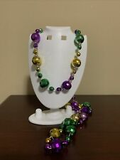 New ListingBig Baller Mardi Gras Necklace Plastic Purple Gold Green Beads