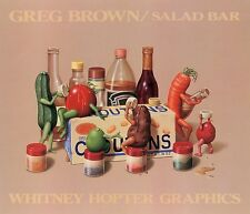 SALAD BAR ART PRINT BY GREG BROWN kitchen funny humor vegetables drinking poster