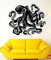 Wall Stickers Vinyl Decal Octopus Sea Creature Ocean Marine Animal (EM485)
