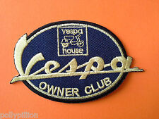 SCOOTER RALLY SEW ON / IRON ON PATCH:- VESPA OWNER CLUB YELLOW SIGNATURE (g)