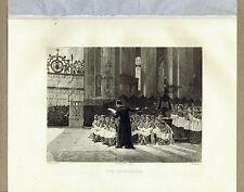THE CHORISTERS - Church Choir by Dawant -1892 Etched Print