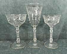 ROCK SHARPE ETCHING #3005-2 CRYSTAL STEMWARE (GOBLETS, CHAMPAGNES & COCKTAILS)
