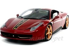 HOT WHEELS ELITE BCK12 FERRARI 458 ITALIA CHINA EDITION 1/18 DIECAST RED