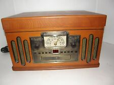 CROSLEY CD CASSETTE AM/FM RADIO 3-SPEED RECORD PLAYER TURNTABLE SPEAKERS SYSTEM