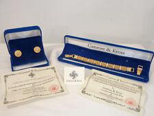 CAMROSE & KROSS JBK Gold Mesh Diamond Bracelet Earrings Costume Jewelry Set MINT