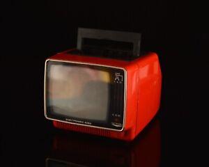 vintage 80s Elektronika 408D portable small TV set television / space age soviet