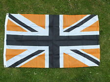 Black/Gold-Orange UK Flag Union Jack Blackpool Luton Dundee Sports Football bnip