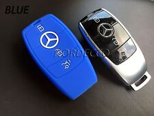 SILICONE 3 BUTTON SMART KEY FOB PROTECTOR COVER 2016 2017 MERCEDES C E G S CLASS