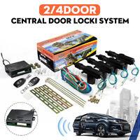 4-Door Car Central Door Lock Locking Keyless Entry Kit System + 2 Remote Fob