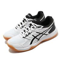 Asics Upcourt 4 GS White Black Gum Kid Youth Junior Volleyball Shoe 1074A027-100