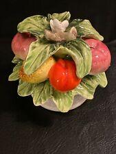 """3"""" T x 4""""W Vintage Sorrento Arnart Fruit Basket Ceramic 33/156 Made in Japan"""