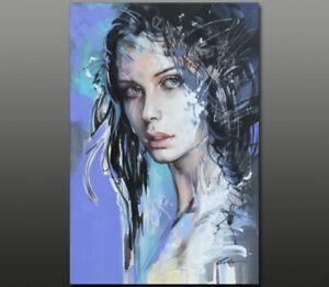 Gala ORIGINAL modern art nude girl face portrait oil painting LARGE ~NEW