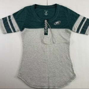 Women's Lace Up Philidelphia Eagles Top Size Small