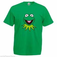 Men's T-shirt kermit muppets top green loose fit fotl movie film retro large