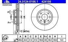 ATE Juego de 2 discos freno Antes 260mm ventilado para OPEL CORSA 24.0124-0166.1