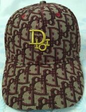 Wine Baseball Cap Hat DIOR Embroidery Cotton Snapback Men's Hat