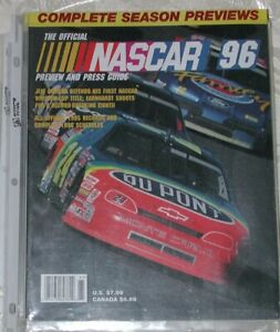 NASCAR YEARBOOK PREVIEW AND PRESS GUIDE 1996   PB