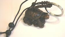 TORTOISE TURTLE KEY RING - LUCKY ORIENTAL TORTOISE FOR LONG LIFE & WISDOM