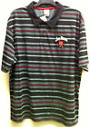 JIM BEAM MEN'S STRIPED 100% COTTON POLO NEW WITH TAGS SIZE : MEDIUM
