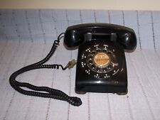 Vintage Black Rotary Dial Desk Phone Western Electric Bell System