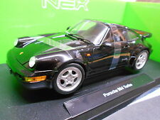 PORSCHE 911 964 TURBO BLACK NERO 1989 Welly Limited 1/1000 1:18