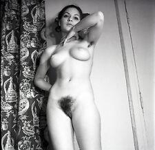 NU NUDE PHOTO FOTO 20x20CM REPRINT FROM ORIGINAL 1960's vintage neg 37