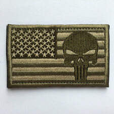 USA American Flag Punisher Skull Military Army Tactical Morale Patch - Multitan