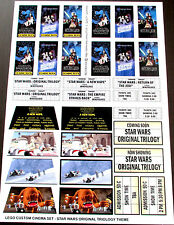 CUSTOM CINEMA STICKER SET for LEGO 10232 10184 -STAR WARS ORIGINAL TRILOGY THEME