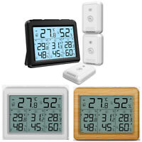 Digital Outdoor Indoor Thermometer Hygrometer Temperature Humidity(1/3Sensors)