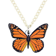 Acrylic Monarch Butterfly Necklace Collar Insect Pendant Jewelry For Women Gifts