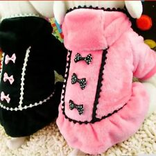 DOG COAT JUMPER CHIHUAHUA YORKIE PUPPY TOY 17CM TEACUP TINY PADDED pink XS XXS