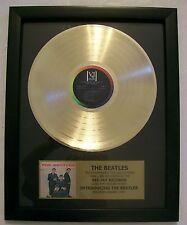 Introducing The Beatles Gold LP on VJ Records + Mini Album Disc Not a Award