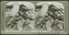 An enemy block-house seized at Poelecappelle - WW1 Stereoview