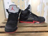 Nike Air Jordan 5 Retro GS 2018 SZ 6Y Satin Bred Black Fire Red OG 440888-006
